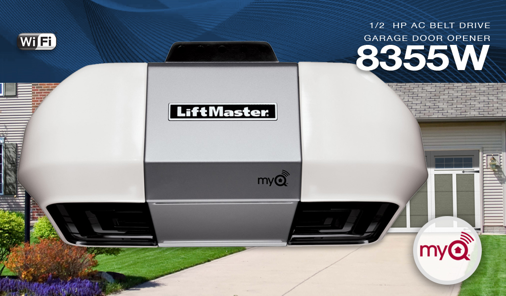 LiftMaster 8355W ½ HP Belt Drive Opener