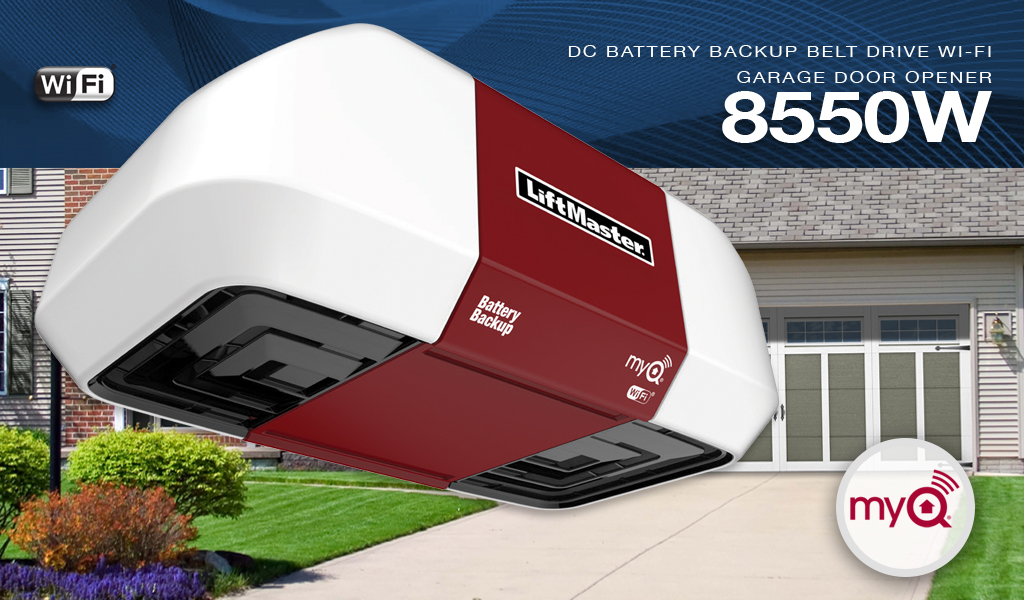 LiftMaster 8550W DC Battery Backup Belt Drive Wi-Fi® Garage Door Opener