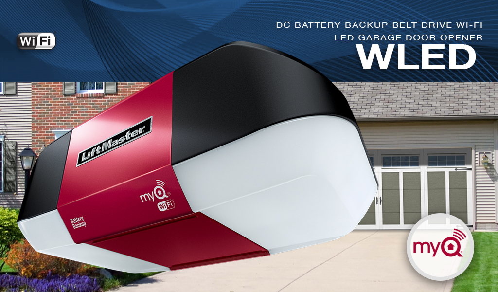 LiftMaster WLED DC Battery Backup Belt Drive LED Wi-Fi® Garage Door Opener